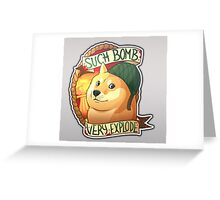 Doge, the bomb expert. CSGO Greeting Card