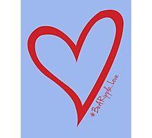 #BeARipple...LOVE Red Heart on Lavender Photographic Print