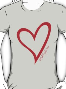 #BeARipple...LOVE Red Heart on Lavender T-Shirt