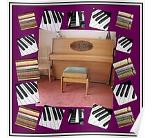 An Invitation To Play - Piano Keys Collage Poster