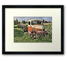 If you rest, you rust. Framed Print