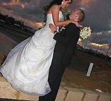 Rainy Wedding Happiness by jwatson