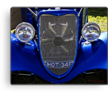The face of a 1934 Ford Canvas Print
