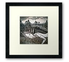 Amy's Travels - Aquatint Etching Framed Print
