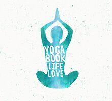Yoga: book, life, love SEAFOAM color by Pranatheory