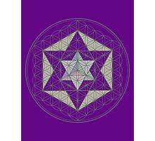 Flower of Life, Vector Equilibrium, Merkaba   Photographic Print