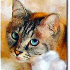 A digital painting of Sheba-Rebecca by Dennis Melling