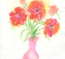 Pink vase by Anne Gitto