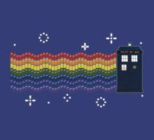 Rainbow TARDIS by zenjamin