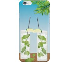 Mojito cocktail on the table iPhone Case/Skin