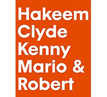Hakeem Clyde Kenny Mario & Robert Photographic Print