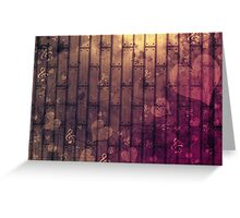 Abstract wood texture Greeting Card