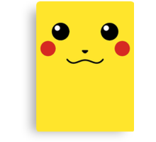 Pikachu Face Canvas Print