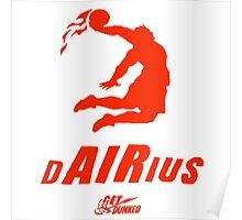 Darius get dunked red Poster