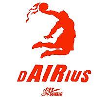 Darius get dunked red Photographic Print