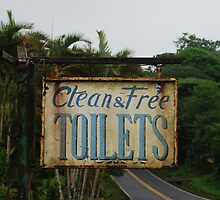 Clean Toliets, Filthy Sign by Furlong
