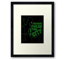 Vigilante all black Framed Print