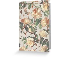 Soft Vintage Rose Pattern Greeting Card
