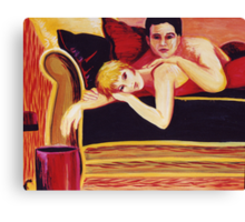 Couch Loafing Canvas Print