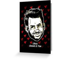Charlie Likes Ghouls (& You) Greeting Card