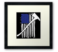 Cool 'Distressed American Flag and Fire Axe' T-shirts, Hoodies, Accessories and Gifts Framed Print