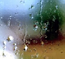 Rainy Window Abstract 1 by SteveOhlsen