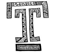 Hipster Temple University Logo by alexavec