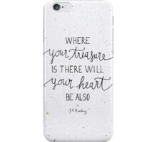 """Harry Potter """"Where your treasure is, there will your heart be also"""" iPhone Case/Skin"""