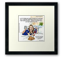 Deflategate Viagra & Football  Framed Print