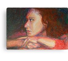 Self Portrait In Profile Canvas Print