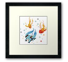 Hatsune Miku - Swimming with Fishes Framed Print
