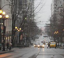 Busy Seattle City Streets by Hunterpike