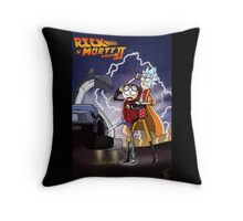 Rick n' Morty: To The Future Throw Pillow