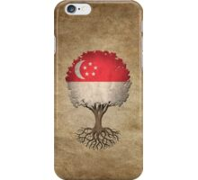 Tree of Life with Singapore Flag iPhone Case/Skin