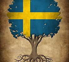 Tree of Life with Swedish Flag by Jeff Bartels