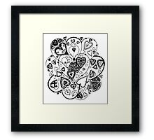 Hearts Within Hearts Aussie Tangle  (See Description Notes for Colour Options) Framed Print