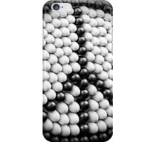 Black and White Symbolic Peace Sign iPhone Case/Skin