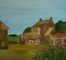 The Old Creamery Yard (16 x 16 inches) by Pauline Dunleavy