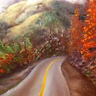 Colorado Landscape, Mountain Road  by Lenora