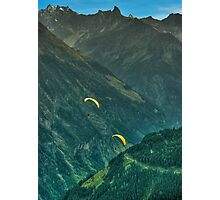 Two Paragliders Photographic Print