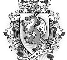 Dragon Coat Of Arms Heraldry by helloheath