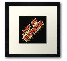 God Of Thunder Framed Print