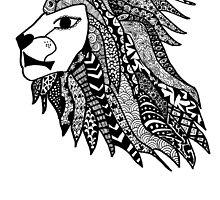 Hipster Lion Head Zentangle by alexavec
