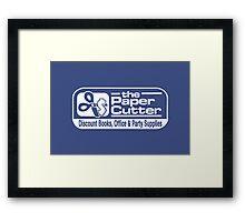the Paper Cutter Blue Framed Print