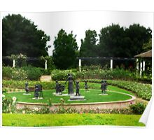 Grandmothers Garden - Hunter Valley Gardens Poster