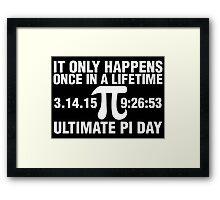 Ultimate Pi Day 2015 Framed Print