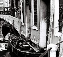 Gondola Waiting by Venice