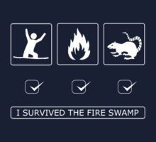 I survived the fire swamp Kids Clothes