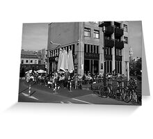 City Life In Amsterdam Greeting Card