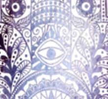 Purple Rock Fatima Hand  Sticker